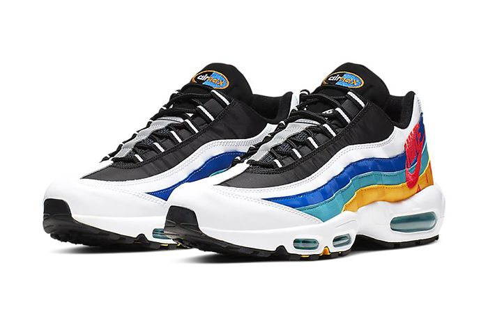 Nike Air Max 95 Windbreaker White University Gold Teal Nebula Red Orbit Aj2018 123 Release Date Pair