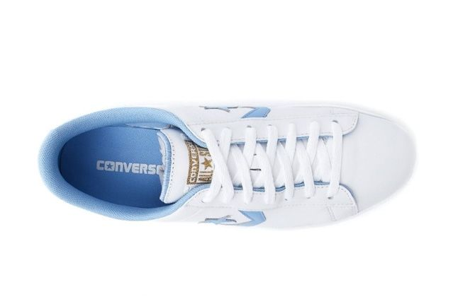 Converse Pro Leather Ox White Bblue Aerial 1