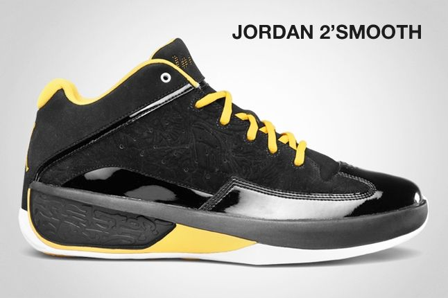 Jordan 2 Smotth Black Yellow 1