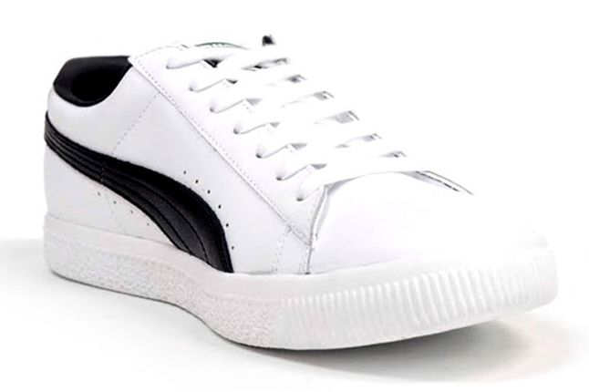 Puma Clyde Leather White Black Inner Profile 1