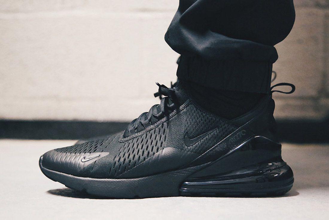 3Nike Air Max 270 Triple Black Release Date Sneaker Freaker