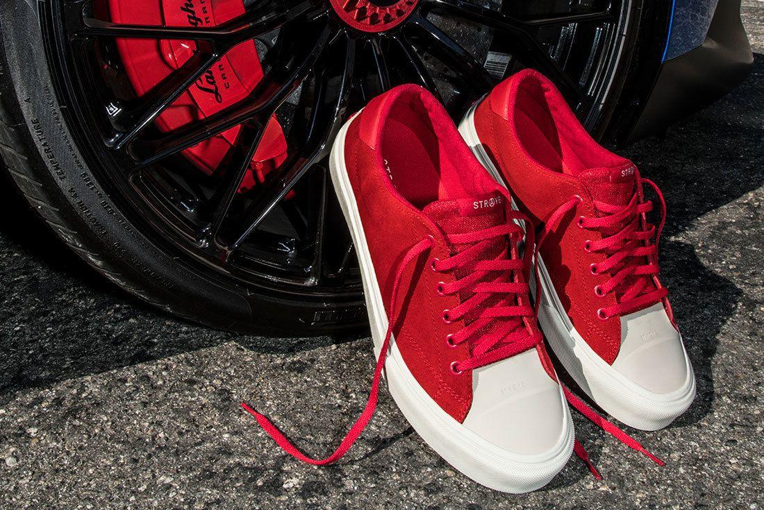 Ben Baller Red Suede Sneaker Freaker12