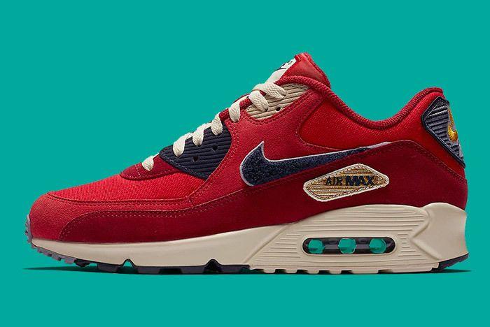 Nike Air Max 90 Chenille Red Blue 1