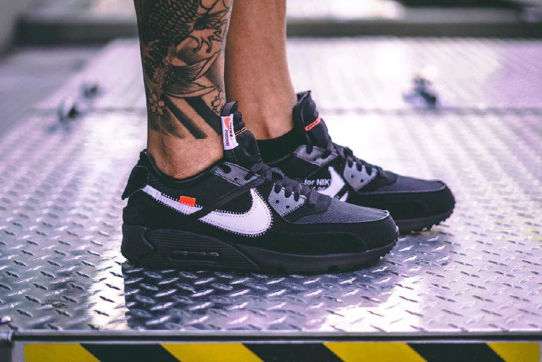 Nike Off White Air Max 90 Black Side Shot Where To Buy