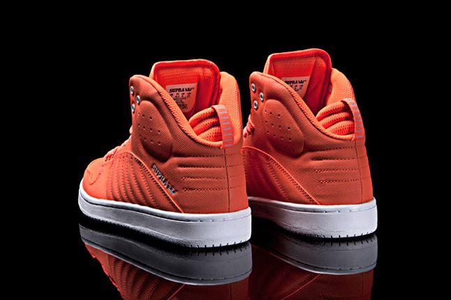 Supra S1W Fluroescent Orange Heel Profile 1