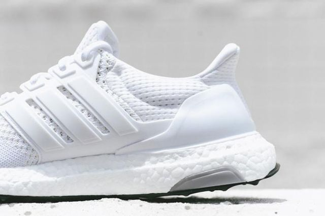 Adidas Ultra Boost White Black Bottom 5