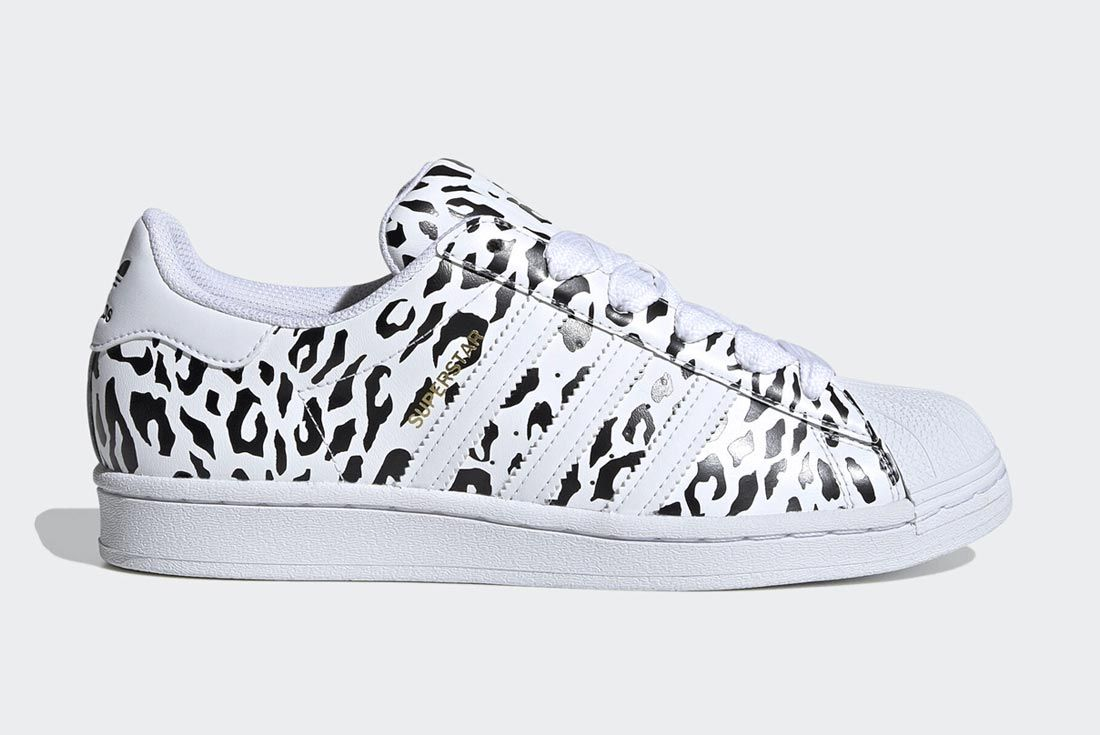 The adidas Superstar Picks Up the Pace in Cheetah Print - Sneaker ...