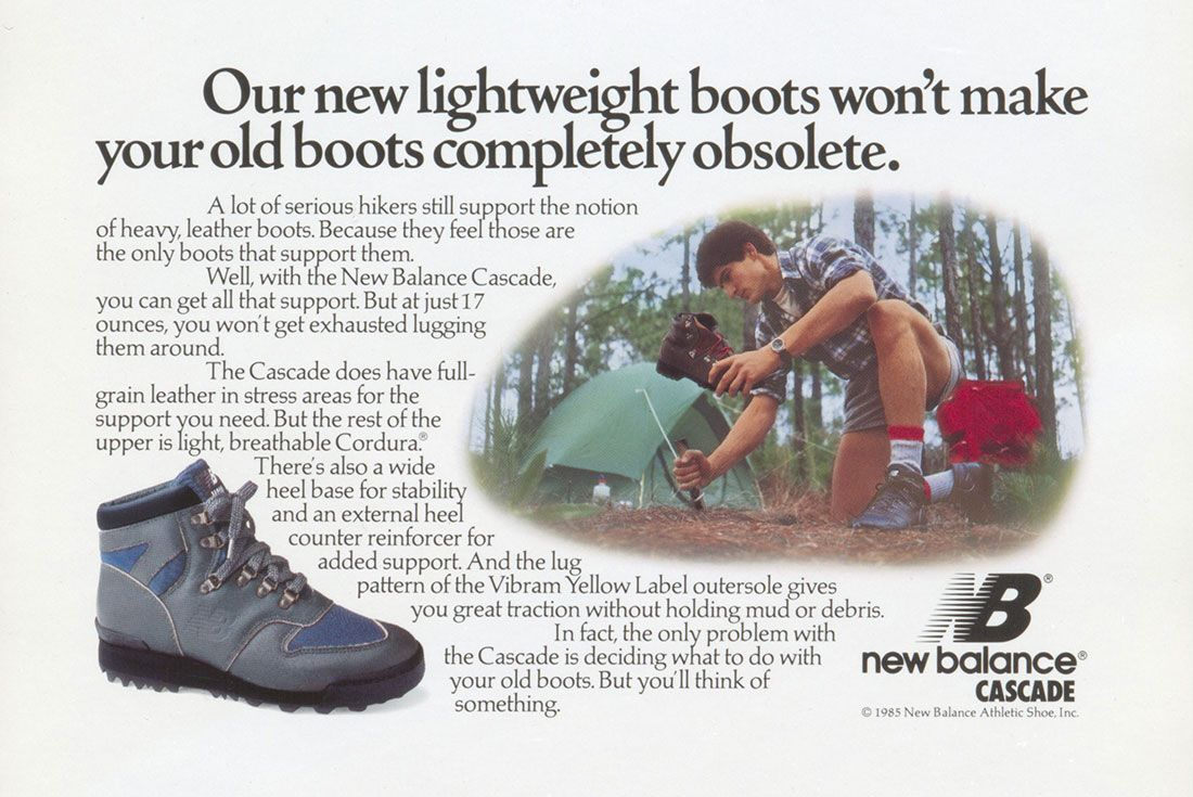 New Balance Cascade Vintage Ad