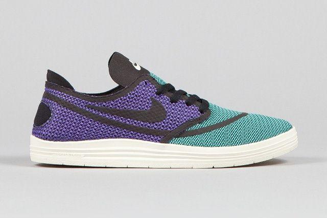 Nike Sb Lunar One Shot Woven Mint Hyper Purple 5