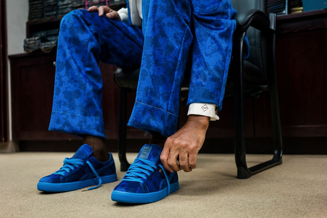 Packer X Puma Clyde Cow Suits Pack5
