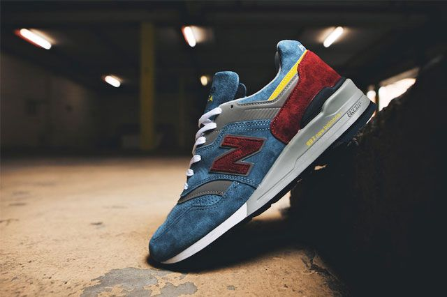 New Balance 997 Burgundy Teal 5