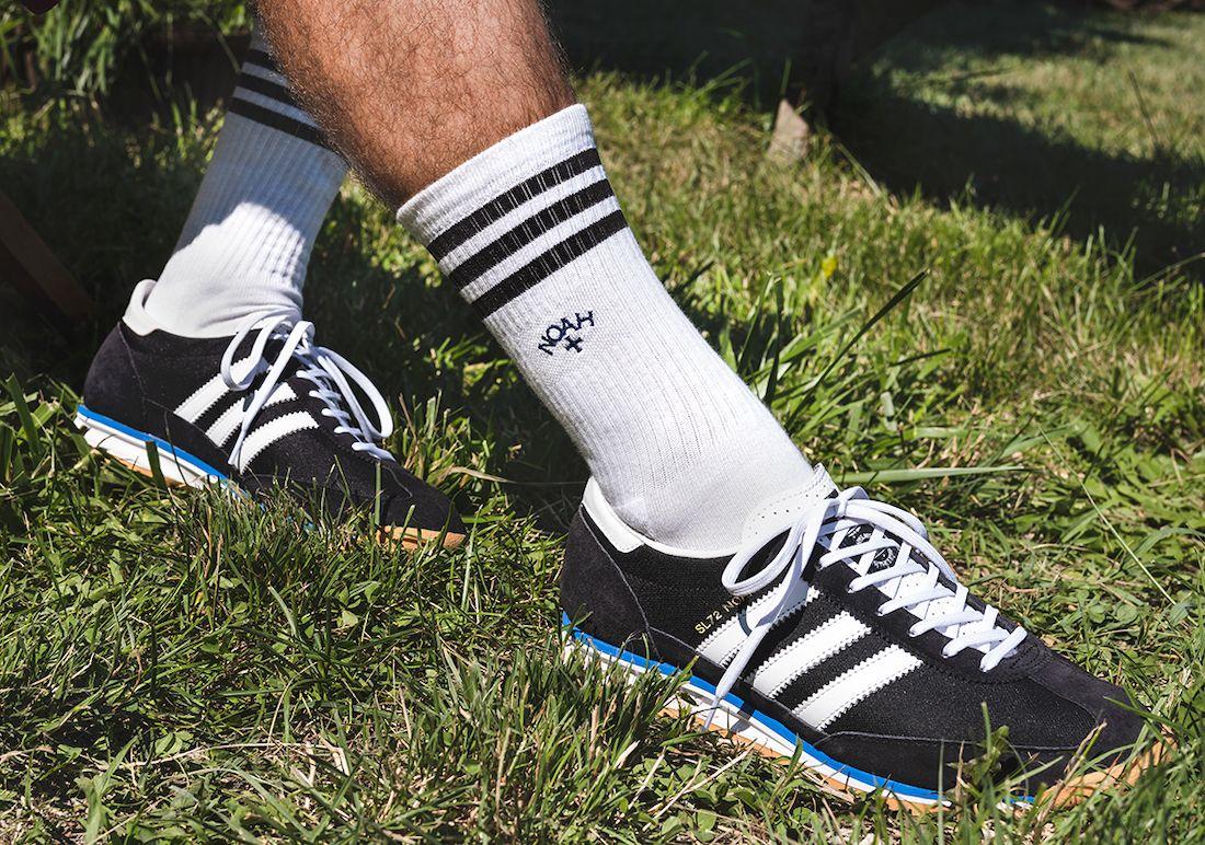 Noah x adidas SL72 Black On Foot