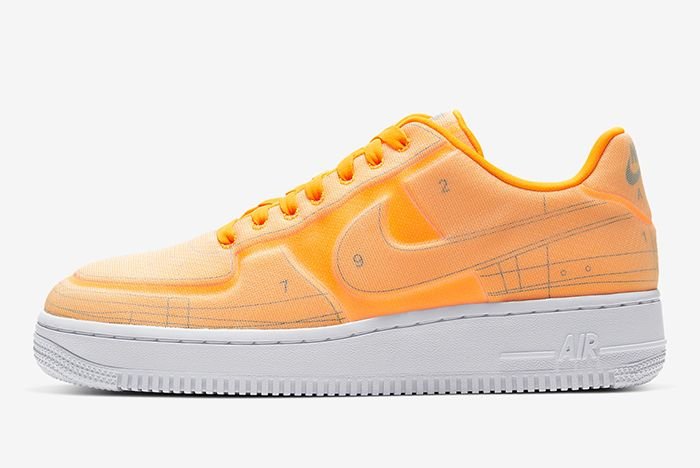 Nike Air Force 1 Low Schematic Orange Lateral Side
