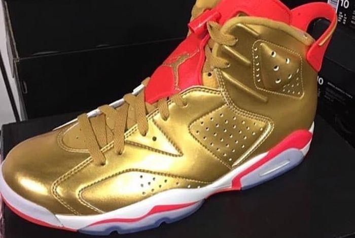 Air Jordan 6 Gold Brigetta Barrett