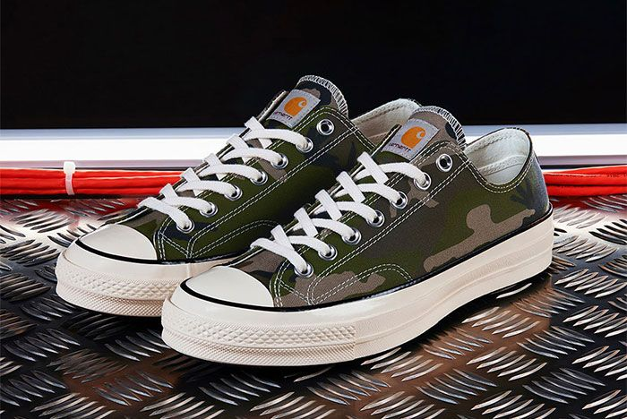 Carhartt Wip Converse Chuck Taylor 70 Camo Three Quarter Lateral Side Shot