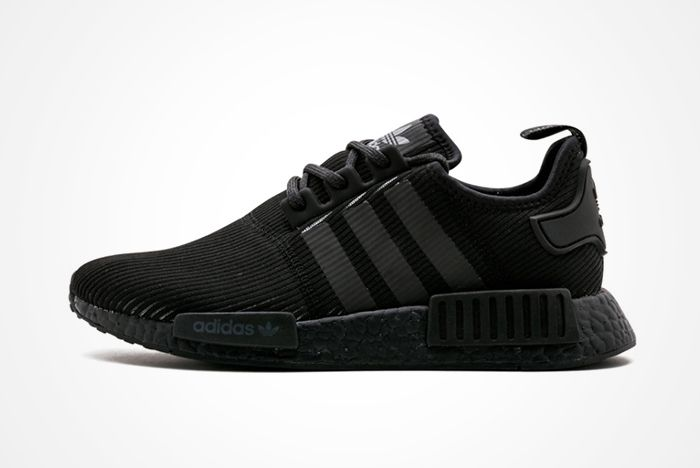 Adidas Nmd R1 Triple Black Ribbedfeature