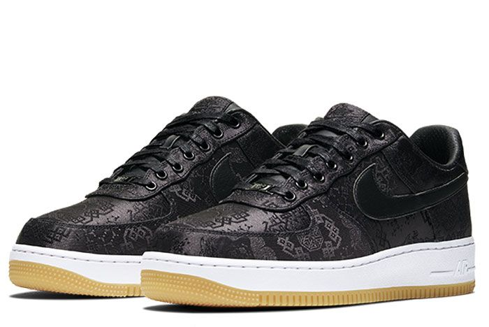 Nike Air Force 1 Clot Black Silk Right Front Angle