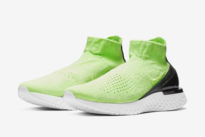 Nike Rise React Flyknit Lime Blast Pair