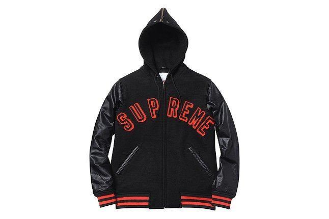 Supreme Hoodie Jacket Varsity 1