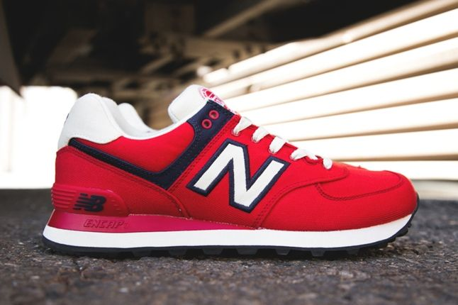 New Balance 574 Rugby Pack Red Profile 1