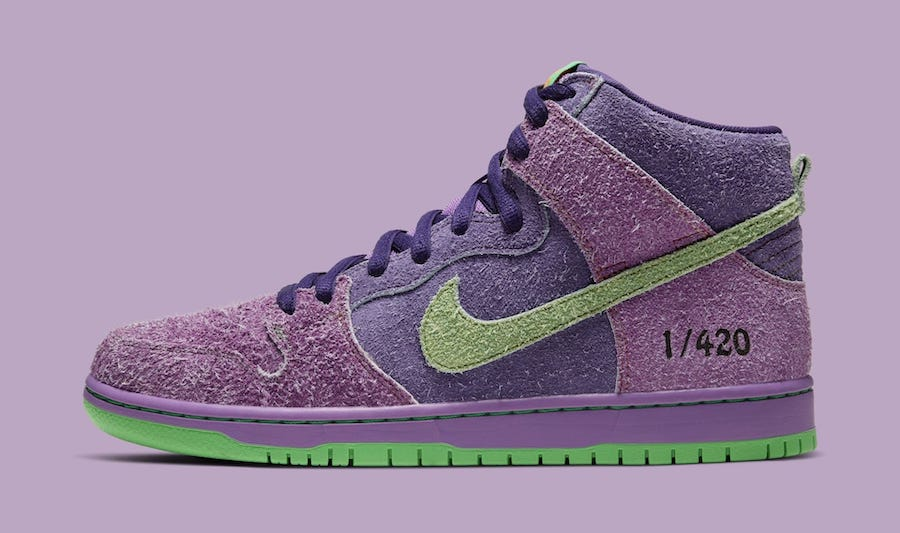 Nike SB Dunk High 420 Reverse Skunk left
