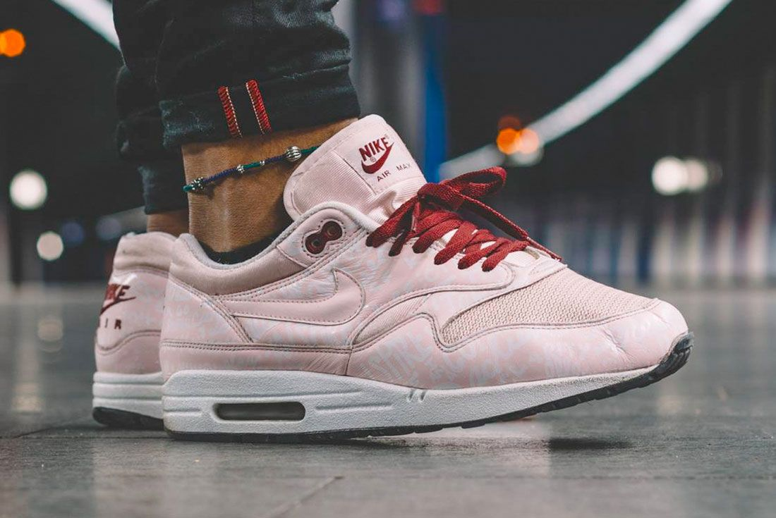 Nike Air Max 1 Powerwall Pink On Foot