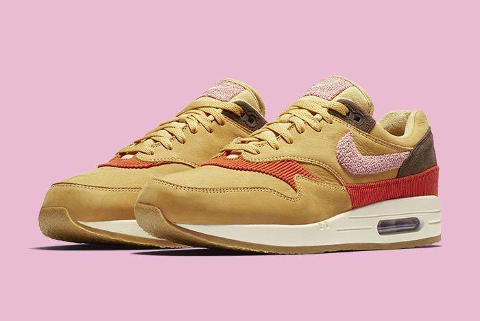 Nike Air Max 1 Corduroy Wheat Gold Rust Pink Baroque Brown 4