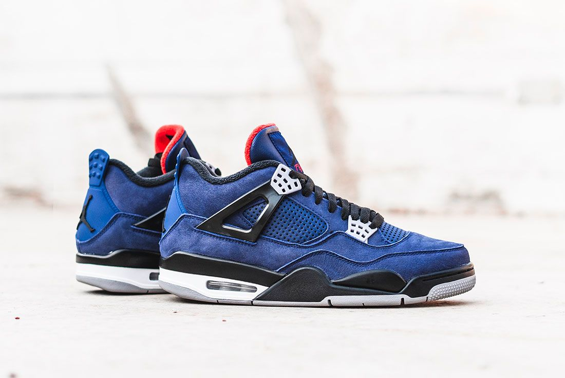 Air Jordan 4 Wntr Blue Lateral