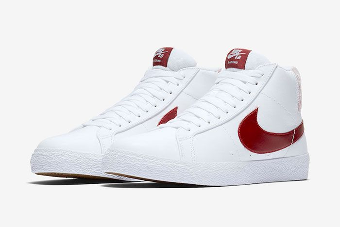 Nike Sb Blazer Team Red Cj6983 101 Release Date 4 Side Pair