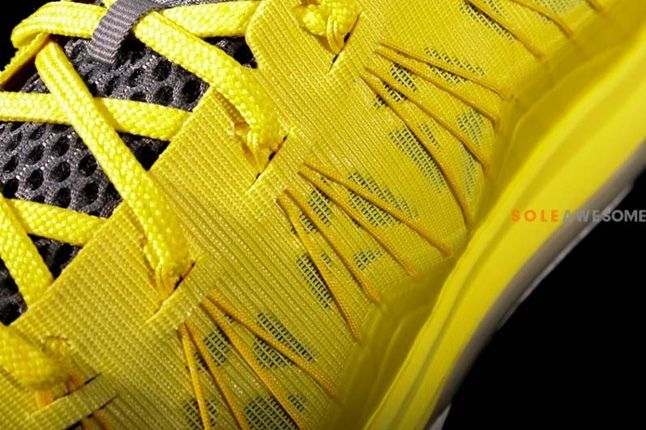 Nike Lebron X Low Sonic Yellow Midfoot Detail 1