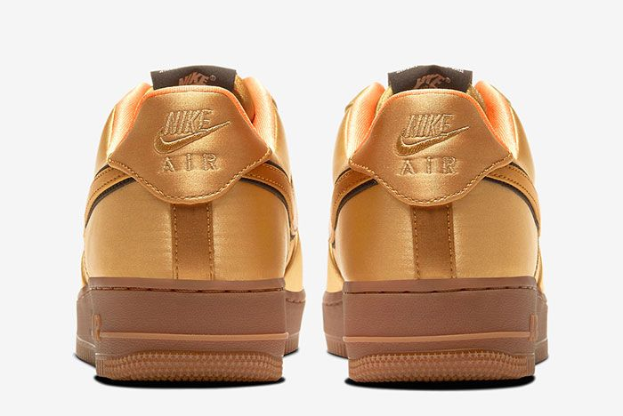 Nike Air Force 1 Low Cu6724 777 Gold Heel