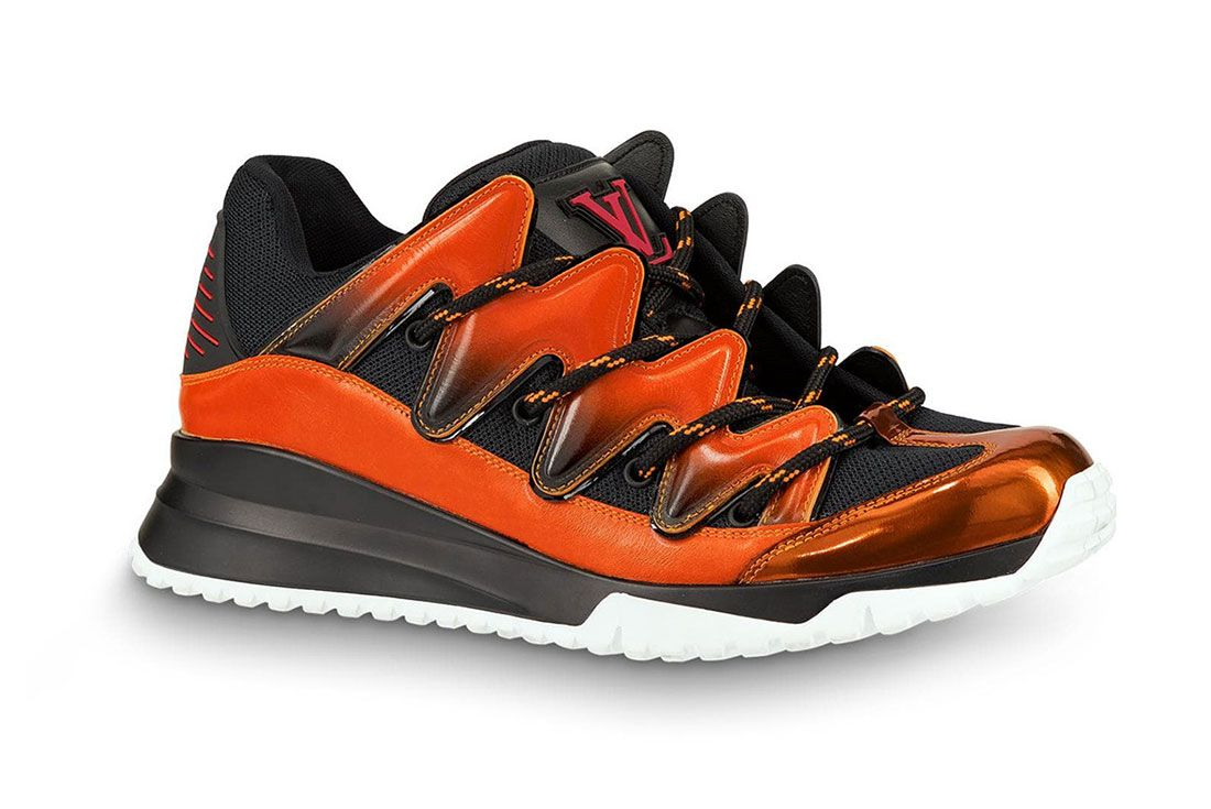 Louis Vuitton Zig Zag Sneaker Virgil Abloh Orange Lateral Side Shot
