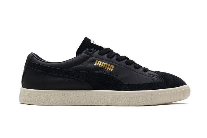 Puma Basket 90680 Black Suede Shoe Release 12 Side