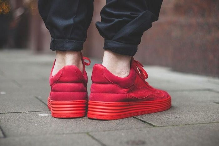 Filling Pieces Low Top All Red 1