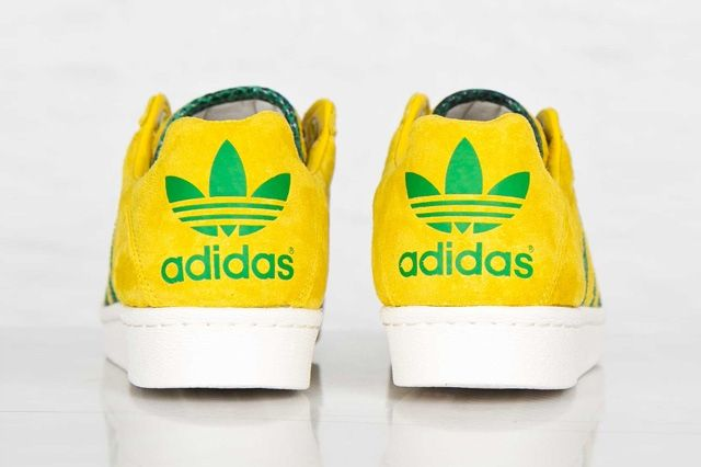 Adidas Ultrstar 80S Yellow Green 2