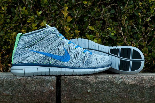 Nike Flyknit Chukka Blue Grey Green