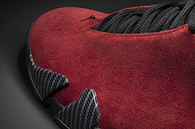 Air Jordan Xiv Red Suede Closeup4