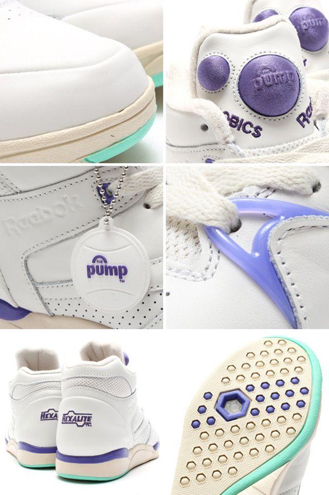 Reebok Pump Vintage Lite Aerobic Purple Vibe Hint Mint