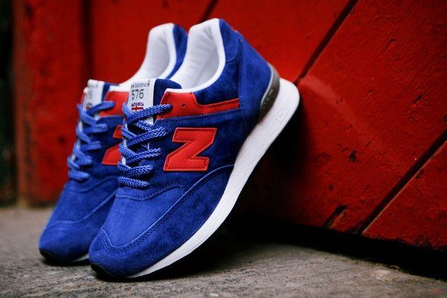 New Balance Wmns 576 Blue Red 1