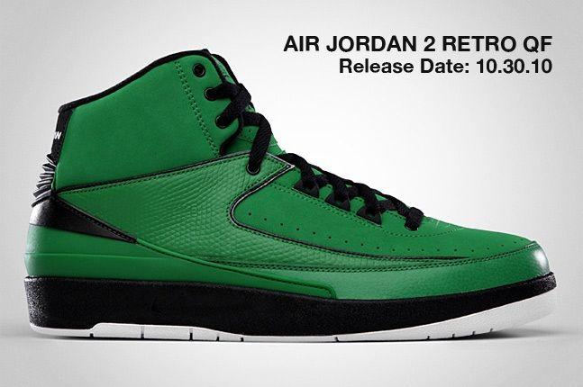 Air Jordan 2 Retro Qf Green 1
