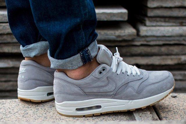 Nike Air Max 1 Leather Premium Medium Grey 1