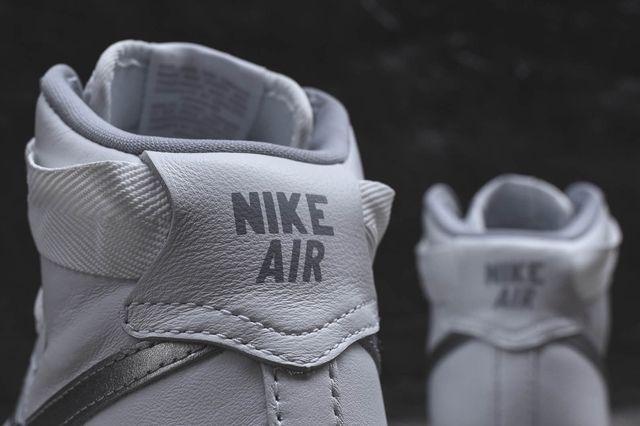 Nike Af1 Hi Summit White Metallic Silver 1