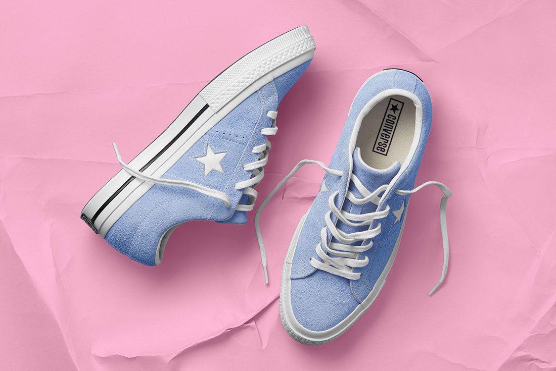 Sp18 Os Premium Suede Blue 159768 C 01 77115 77145 Converse One Star Sneaker Freaker
