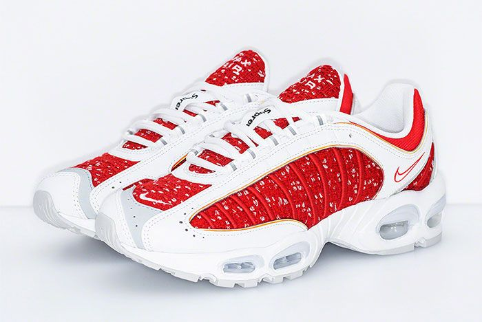 Supreme Nike Air Max Tailwind 4 Red White Release Date Quarter