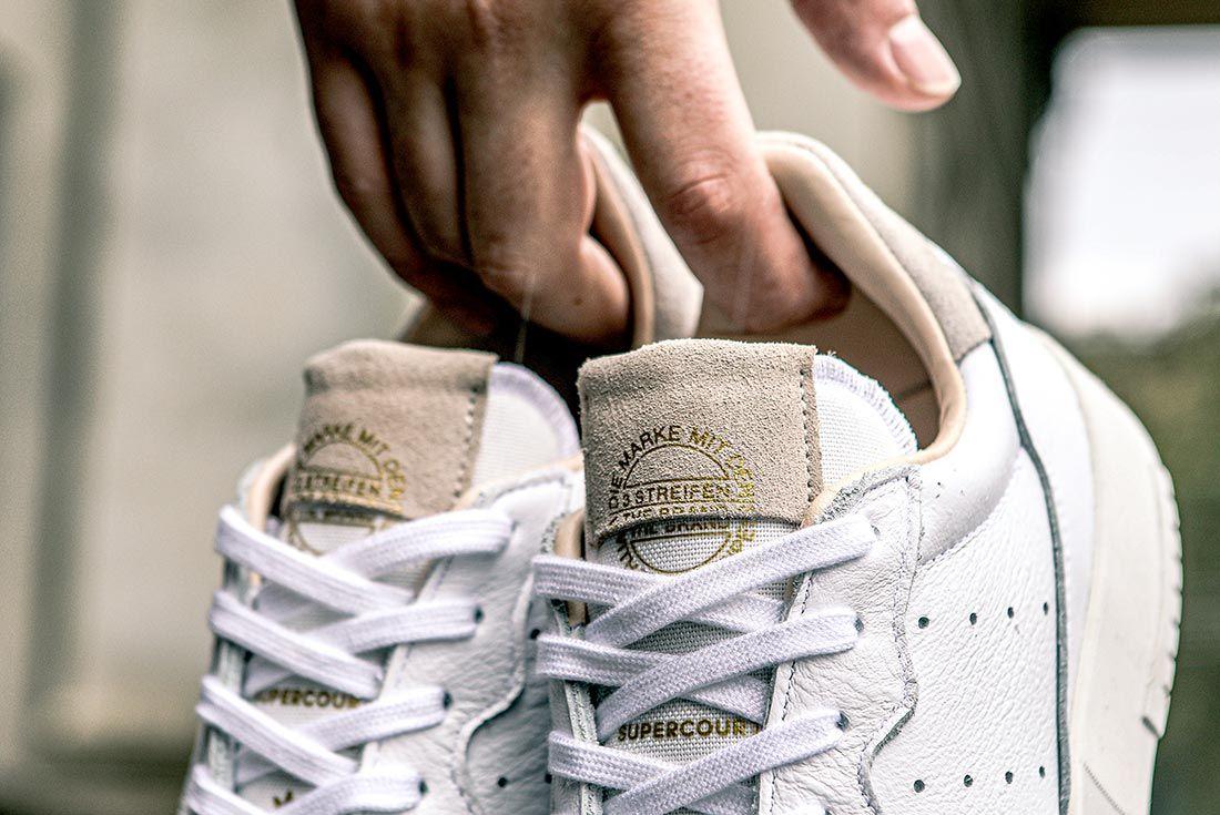Adidas Supercourt On Foot Tongue Detail