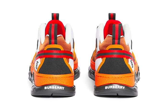 Burberry Union Sneaker Orange Heels