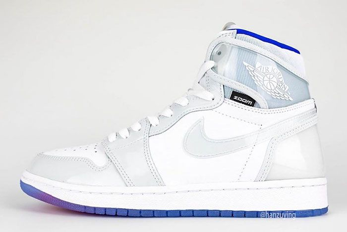 Air Jordan 1 High Zoom R2 T White Racer Blue Ck6637 104 Left Lateral