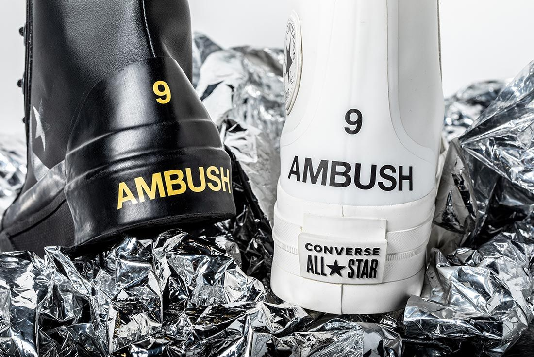 Converse X Ambush Black And White Heel