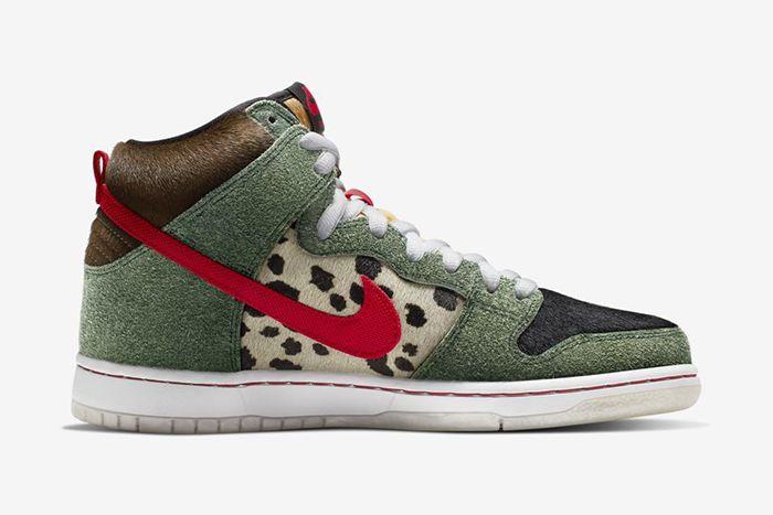 Nike Sb Dunk High Walk The Dog Bq6827 300 Release Date Medial