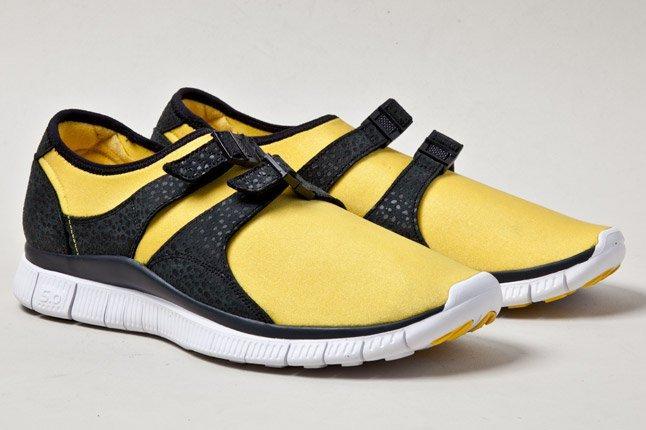 Nike Free Sockracer Yel Pair 1